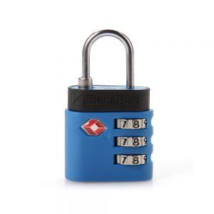 Kłódka do walizki TSA niebieska