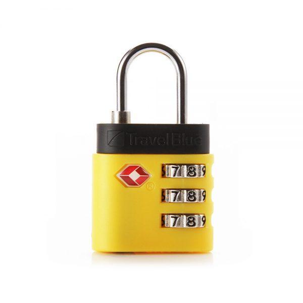 kłódka do bagażu tsa żółta